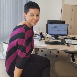 Žena u počítače Obchodní akademie střední škola Prostějov