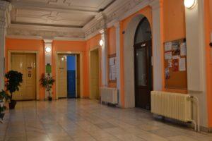 Chodba školy Obchodní akademie střední škola Prostějov