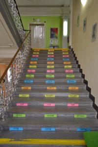 Školní schody Obchodní akademie střední škola Prostějov