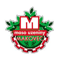 Maso uzeniny Makovec barevné logo Obchodní akademie střední škola Prostějov
