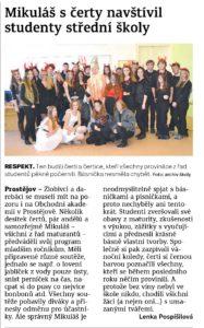 Článek o Mikuláši Obchodní akademie střední škola Prostějov