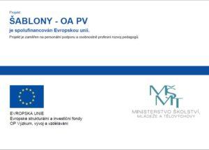 Logo projektů EU Obchodní akademie střední škola Prostějov